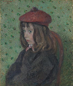 Félix Pissarro - Félix at the age of seven, as portraited in 1881 by his father Camille Pissarro.