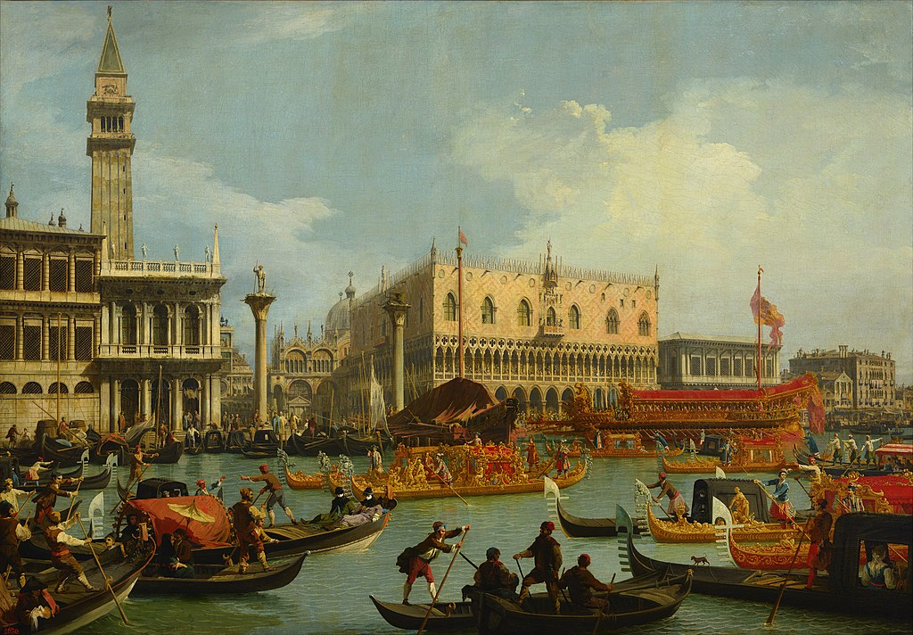 Canaletto - Bucentaur's return to the pier by the Palazzo Ducale - Google Art Project