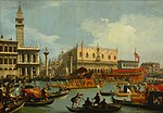 Canaletto - Bucentaur's return to the pier by the Palazzo Ducale - Google Art Project.jpg