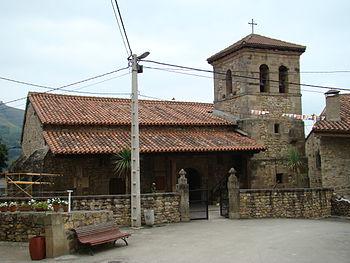 View of the parochial church in San Sebastián ...