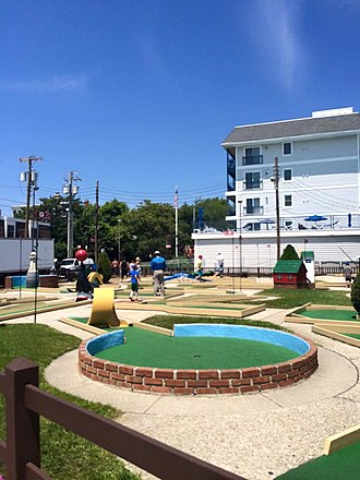 Miniature golf - A miniature golf course in Cape May, New Jersey.