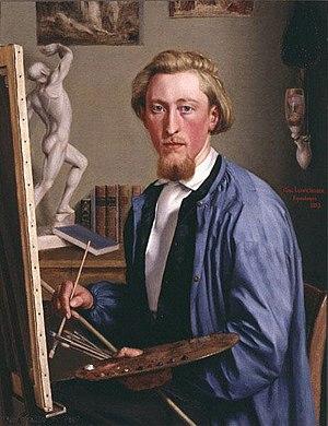 Niebüll - Carl Ludwig Jessen Self-portrait