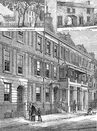 Carlyle's House - The house in 1881