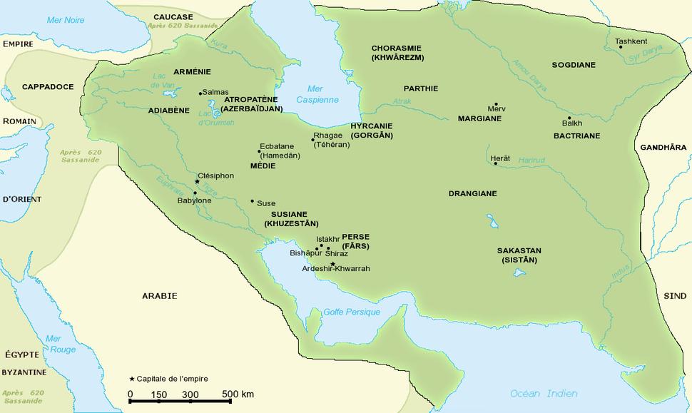 Carte empire Sassanide
