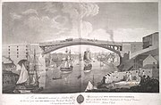 Cast iron bridge over River Wear at Sunderland 1796.jpg