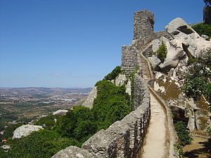Castle of the Moors - The inner walls on the northern face of the castle