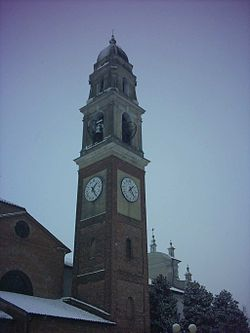 Bell tower of the church of Sant'Archelao.