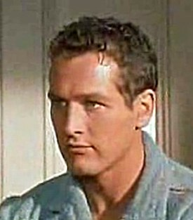 Paul Newman dins Cat on a Hot Tin Roof (1958).