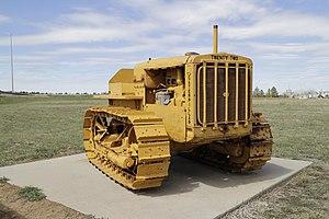 Caterpillar Twenty-Two - Image: Caterpillar Twenty Two tractor on display at the Energy Equipment Exhibit in Gillette, Wyoming