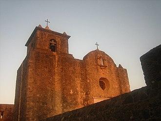 Goliad, Texas - The chapel at the Presidio La Bahía
