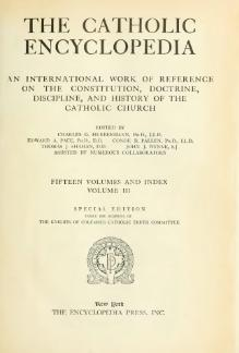 Catholic Encyclopedia, volume 3.djvu