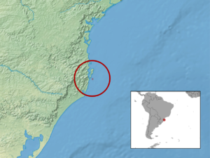 Santa Catarina's guinea pig - Image: Cavia intermedia distribution