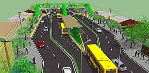 Cebu Bus Rapid Transit System - Image: Cebu BRT Station Example