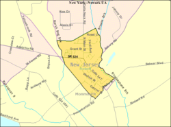 Census Bureau map of Farmingdale, New Jersey