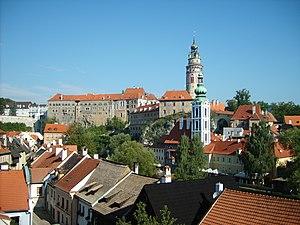 Castle in Český Krumlov, Czech rep.