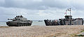 Challenger 2 Tank Disembarks from Landing Craft During Amphibious Demonstration MOD 45152079.jpg