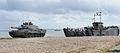 Challenger 2 Tank Disembarks from Landing Craft During Amphibious Demonstration MOD 45152079.jpg