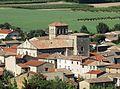 Champagne (Ardèche) église extérieur de loin.jpg