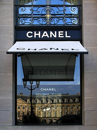 Chanel's headquarters on the Place Vendome, Paris. Channel headquarters bordercropped.jpg