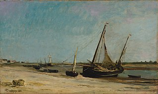 Boats on the Seacoast at Étaples