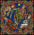 Chartres VITRAIL DE LA VIE DE JÉSUS-CHRIST Motiv 12 L'ange avertissant les Mages pendant leur sommeil.jpg
