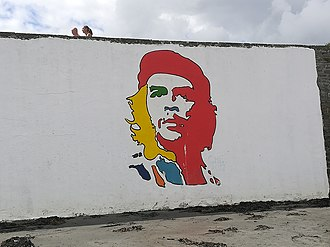 Kilkee - A mural on the strand of Kilkee commemorating the 1962 visit of Che Guevara.