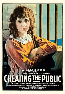 <i>Cheating the Public</i> 1918 film by Richard Stanton