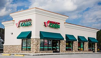 Payday loans in the United States - Check Into Cash store.