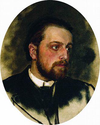 Vladimir Chertkov - Portrait of V. Chertkov by Ilya Repin (c. 1890)