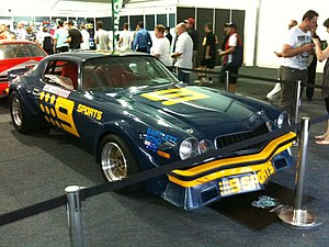 1981 James Hardie 1000 - Kevin Bartlett and Bob Forbes placed 13th in a Chevrolet Camaro (image from 2010)