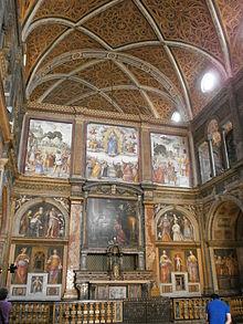 Aula dei fedeli, tramezzo e altare maggiore
