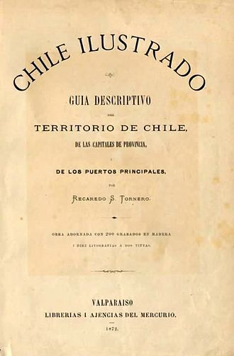 Recaredo Santos Tornero - Front page of Chile Ilustrado (1872).