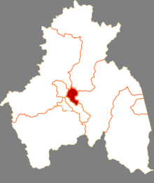 Location of Yangming District in Mudanjiang