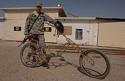 Build Chopper Bicycle http://en.wikipedia.org/wiki/Chopper_bicycle