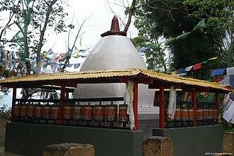 Enchey Monastery - Image: Chorten in Enchey Gompa in Gangtok
