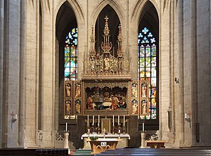 Main altar in St.Barbara's Cathedral, Kutná Hora