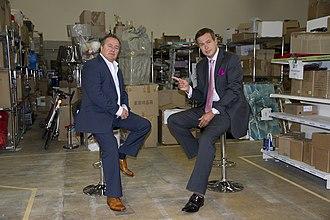 Peter Jones (entrepreneur) - Chris Dawson (left) and Jones (right) on the set of Peter Jones Meets, 25 September 2012