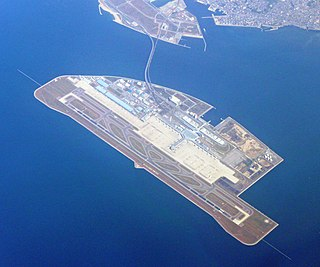 Chubu Centrair International Airport airport on an artificial island in Ise Bay, Japan