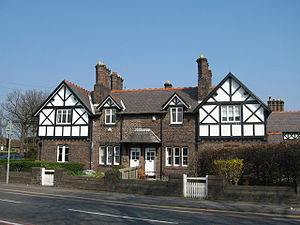 Gateacre - The Church Cottages on Belle Vale Road are an example of mock-Tudor design that Gateacre is known for