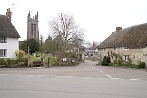 Cattistock - Image: Church and The Square, Cattistock geograph.org.uk 160877