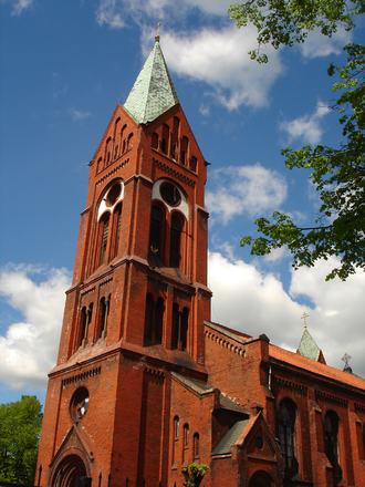 Friedrich Adler (architect) - Former Calvinist Church, today's Russian Orthodox Cathedral of Saint Michael Archangel, Chernyakhovsk