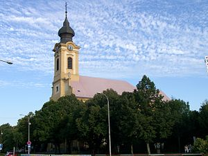 Church in Sereď Slovakia 2008-08-19.jpg