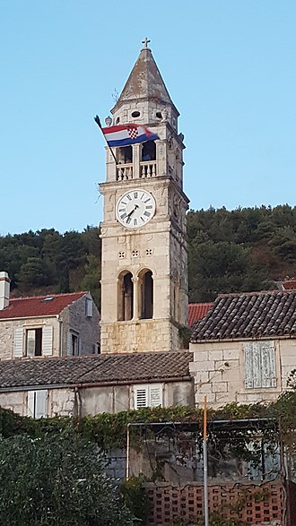 Vis (town) - File:Bell tower of the Church of St. Cyprian and Justina