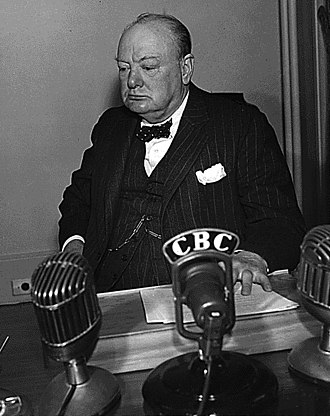 Timeline of the Canadian Broadcasting Corporation - Winston Churchill
