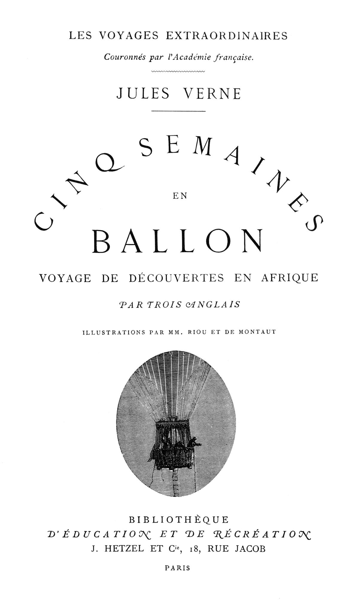 Cinci săptămâni în balon - Wikipedia