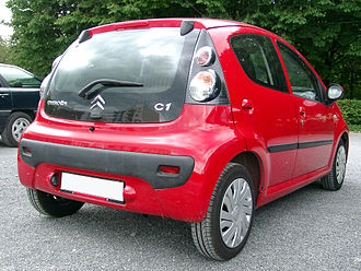 Citroën C1 - Pre-facelift Citroën C1 showing tail light clusters