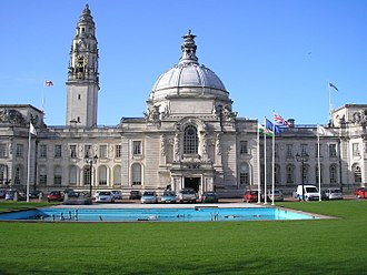 Cathays Park - Image: City Hall, Cardiff, Wales