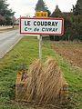 Civray-FR-18-panneau d'agglomération-Le Coudray-1.jpg