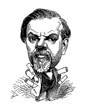 Clairville (Louis-François Nicolaïe) - Caricature of Clairville published in Le Trombinosocope of Touchatout, 1874
