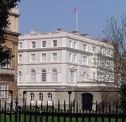 Clarence House, the official residence of the Prince of Wales Clarence house.jpg